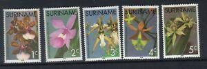 SURINAME 1976 ORCHIDS SET MNH SG809-13