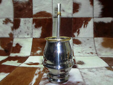 Yerba Mate stainless steel cup  + Gift stainless steel Straw/Bombilla