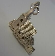 VINTAGE SILVER OPENING CHURCH CHARM WITH BRIDE & GROOM