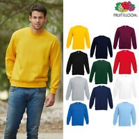 Men's Classic 80/20 Set-in Sweatshirt - Fruit of the Loom Plain/Casual Jumper