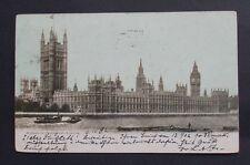 AK London Hauses of Parlament gelaufen Charlottenburg 1902 Post Card, selten