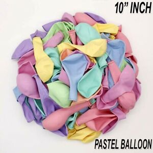 "Pack of 100 Pastel Latex Balloons Macaron Candy All Colour Party 10"" Balloons"