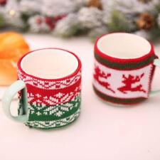 Crocheted Knitted Thermal Coffee Mug Tea Cup Cuppa Cosy Cozy  FW