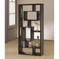 Coaster Room Divider Bookcase Shelf Black Oak Finish Shelving Interlocking Wall Units 021032213442