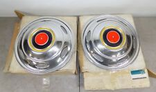 """NOS GM 1973-1978 CHEVY TRUCK DUALLY MOTORHOME G3 REAR HUBCAPS 16.5"""" 337257"""