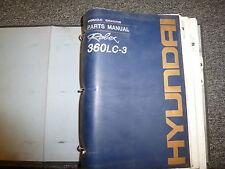 Hyundai Robex 360LC3 Hydraulic Excavator Parts Catalog Manual Book