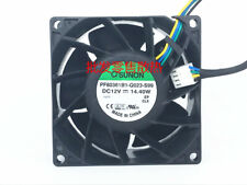 1PC SUNON PF80381B1-Q023-S99 12V 8038 8CM 4-wire pwm violent cooling fan