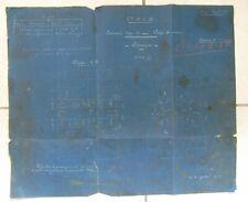 ANCIEN PLAN USINE SAINT JACQUES MONTLUCON COMPAGNIE P.L.M ESSIEUX 1919