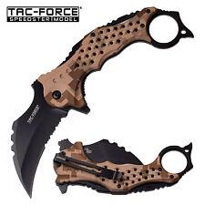 TAC FORCE Speedster Tactical Mammoth Karambit Knife Digital Desert Camo LARGE