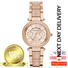 GENUINE Michael Kors Ladies Rose Gold Chronograph mini Parker 33mm  Watch MK6110
