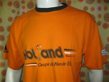 Ancien T-SHIRT MAILLOT ADIDAS PAYS-BAS HOLLAND COUPE DU MONDE FRANCE 98 TL Foot