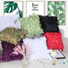 """Elegant 3d Raised Tropical Leaf Taffeta Cushion Cover Throw Pillow Case 16.5"""""""