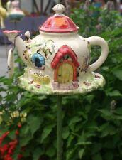 Gartenstele Keramik Garten Deko Hauskanne BUNT