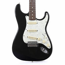 Used 1996 Fender Made In Japan Stratocaster Electric Guitar Black Finish