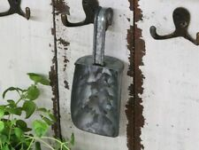 Chic Antique Altfranzösischer Löffel Metall Schüttenlöffel Brocante Zinklöffel