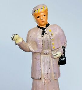 """BARCLAY FIGURE """"LADY SHOPPING 3 """" TALL VERY FINE PAINT"""