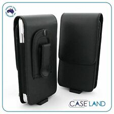 A1 - BLACK LEATHER BELT CLIP CASE COVER HOLSTER FOR HUAWEI ASCEND Y300