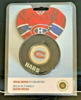 RARE! 2009 HOLOGRAPHIC 50 CENTS COIN & PUCK MONTREAL CANADIENS SET - NHL/RCM