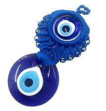 Nazat boncuk colgaduras 15cm vidrio remolque decorativas Evil Eye azul ojos nz14