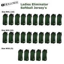 (25) Team Softball Jersey's Holloway Ladies Eliminator Green XL M & XS $875