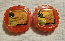 2 YANKEE CANDLE CIDER WEB WAX MELT POTPOURRI TARTS HALLOWEEN FALL