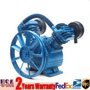 New 2HP 2 Piston V Style Twin Cylinder Air Compressor Pump Motor Head Air Tool