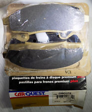 NEW CARQUEST GMD376 FRONT PREMIUM PLUS DISC BRAKE PAD SET, 4 Pads, Made in USA
