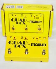 Morley Quad Box Electric Guitar Amp Switcher Pedal Switch 2 amp out 2 guitars in