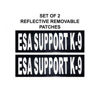 Doggie Stylz Set of 2 Reflective ESA SUPPORT K-9 Removable Dog Patches
