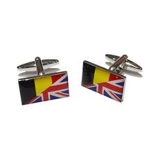 Union Jack UK British England & Belgian Belgium Flag CUFFLINKS BIRTHDAY PRESENT