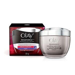 Olay Regenerist Revitalising Night Cream Moisturiser 50g Renews Smoothens Skin