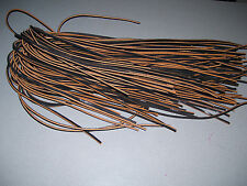 """NEW.  (1) PAIR (BROWN COLOR) RAWHIDE LEATHER 14""""  SHOE/BOOT LACES."""