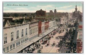 Austin Avenue Stores in WACO TX Vintage Texas Postcard
