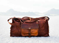 """76"""" Bag Leather Travel Duffle Gym Weekend Overnight Luggage Holdall Mens Large"""