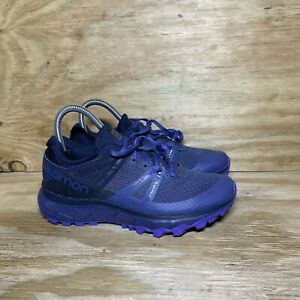 Salomon Trailster Trail Running Shoes Womens Size 6 Blue Purple Outdoor 406118