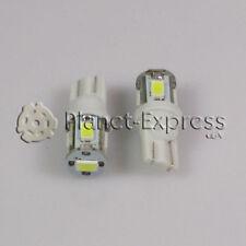 2 x Bombillas 5 LED SMD 5630 T10 W5W Coche, Posicion, Interior... Blanco Xenon