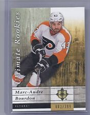 2011-12 ULTIMATE COLLECTION MARC-ANDRE BOURDON ULTIMATE ROOKIES /399 95 FLYERS