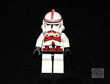 LEGO Star Wars - Shock Trooper Minifigure - Red Markings - Black Hips - 7655