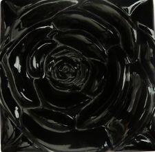 The Black Rose -Kitchen Backsplash Tile--Stone Tile Inserts-Sculpture-Wall Art