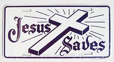 Jesus Saves Cross License Plate Christian Religious metal sign novelty car tag
