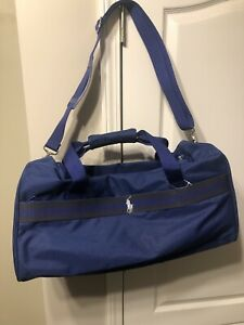 Ralph Lauren Polo Men's Blue And Gray Travel Bag New Never Used