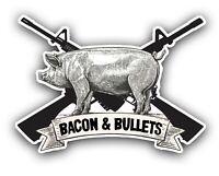 "BACON & BULLETS 4.5"" DECAL 2nd amendment home security gun rights AR"