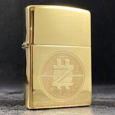 Riley's 66 Custom Zippo Lighter - Cryptocurrency - High Polish Brass