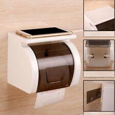Toilet Paper Roll Holder Tissue Storage Shelf Wall Mounted Bathroom Waterproof