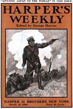 Harpers Weekly RETVIZAN at Port Arthur FLY FISHING Henrietta Crosman JAPAN 1904