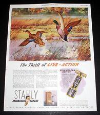 1946 OLD MAGAZINE PRINT AD, STAHLY LIVE-BLADE RAZOR, NO WIRES - NO BATTERIES!