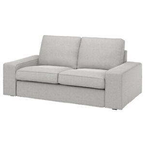 Brand New IKEA KIVIK Loveseat Cover Tallmyra White Black 604.819.68