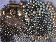 Grey mix Glass Beads Pearl Foil Lampwork Drawbench 700 Beads