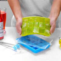 4-15 Grids Silicone Ice Cube Tray Mold Mould Maker Whisky Pudding DIY Tool Large