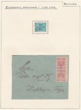 Estonia. Emergency Cancellations. Line Type Postmark. THREE PAGES. (D)